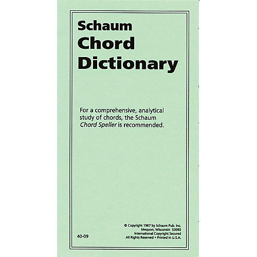 SCHAUM Chord Dictionary Educational Piano Series Softcover-thumbnail