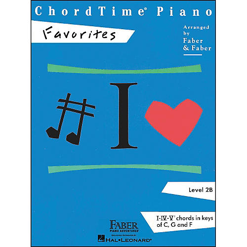 Faber Piano Adventures Chordtime Piano Favorites Level 2B - Faber Piano