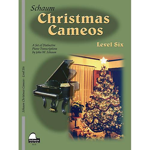 SCHAUM Christmas Cameos (Level 6 Early Advanced Level) Educational Piano Book-thumbnail