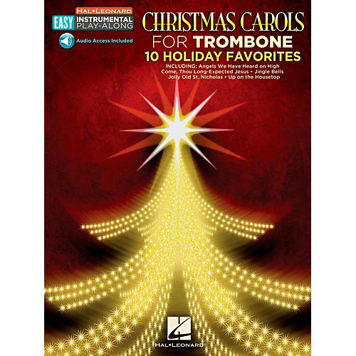 Hal Leonard Christmas Carols - Trombone - Easy Instrumental Play-Along (Audio Online)-thumbnail