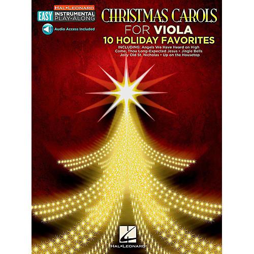 Hal Leonard Christmas Carols - Viola - Easy Instrumental Play-Along (Audio Online)-thumbnail