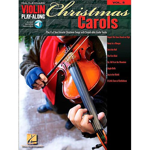 Hal Leonard Christmas Carols Violin Play-Along Volume 5 Book/CD