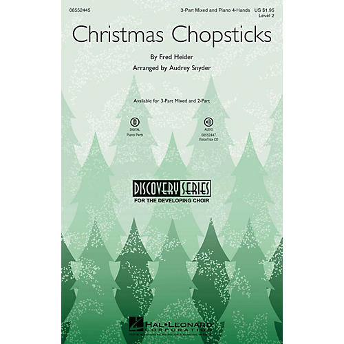 Hal Leonard Christmas Chopsticks (Discovery Level 2) 3-Part Mixed arranged by Audrey Snyder-thumbnail