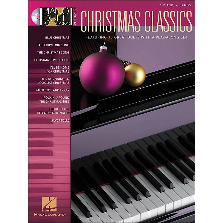 Hal LeonardChristmas Classics Volume 8 Book/CD 1 Piano, 4 Hands