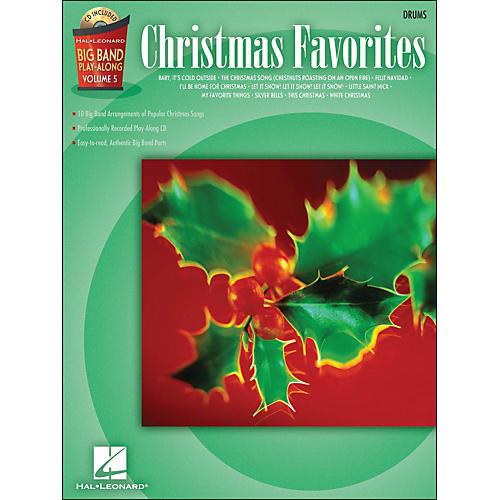 Hal Leonard Christmas Favorites Big Band Play-Along Vol. 5 Drums Book/CD
