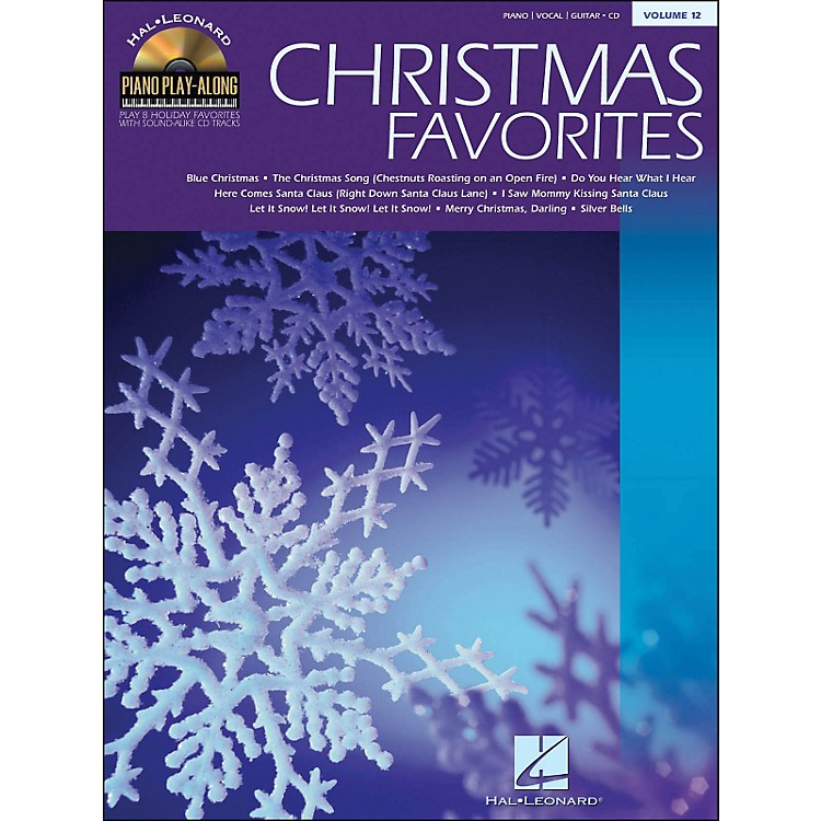 Hal Leonard Christmas Favorites Book/CD Volume 12 Piano Play-Along arranged for piano, vocal, and guitar (P/V/G)