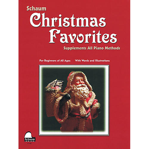 SCHAUM Christmas Favorites (Primer Level Early Elem Level) Educational Piano Book-thumbnail
