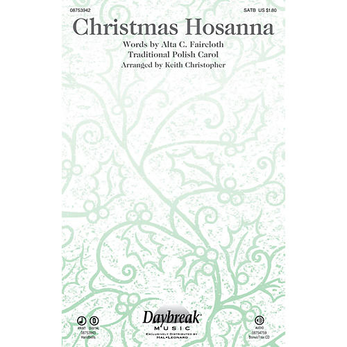 Daybreak Music Christmas Hosanna SATB arranged by Keith Christopher-thumbnail