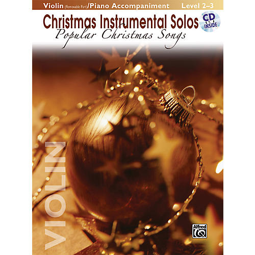 Alfred Christmas Instrumental Solos Popular Christmas Songs for Strings Violin Book (with Piano Acc.) & CD