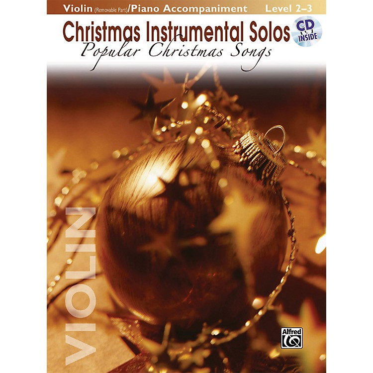 AlfredChristmas Instrumental Solos Popular Christmas Songs for Strings Violin Book (with Piano Acc.) & CD