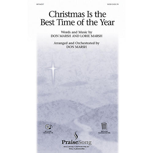 PraiseSong Christmas Is the Best Time of the Year SATB composed by Don Marsh-thumbnail