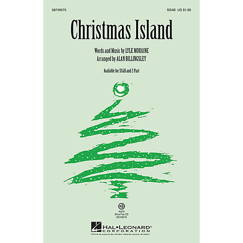 Hal Leonard Christmas Island SSAB by Brian Setzer arranged by Alan Billingsley-thumbnail