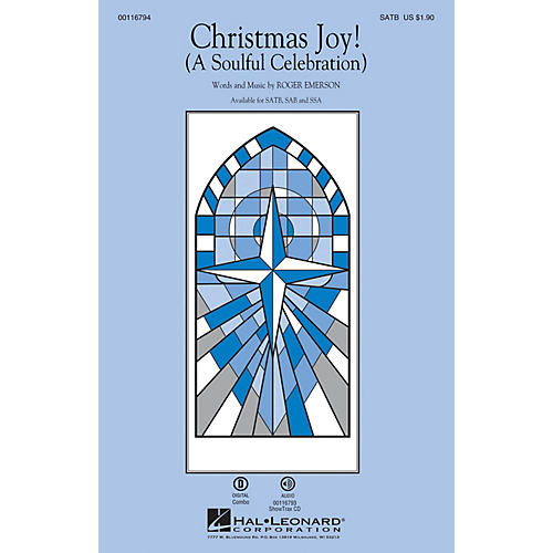 Hal Leonard Christmas Joy! (A Soulful Celebration) SATB composed by Roger Emerson-thumbnail