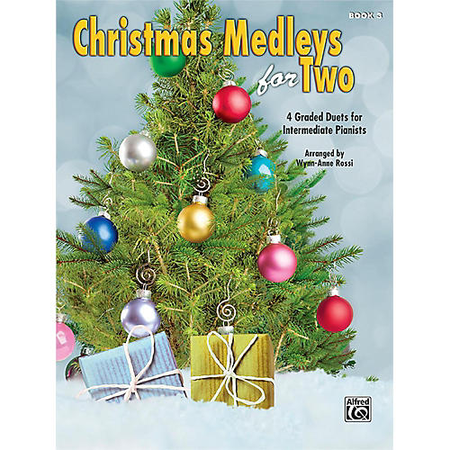 Alfred Christmas Medleys for Two, Book 3 Intermediate-thumbnail