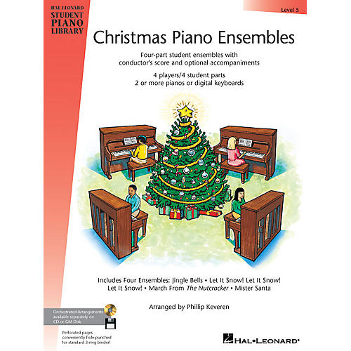 Hal Leonard Christmas Piano Ensembles - Level 5 Book Only Piano Library Series (Level Inter)-thumbnail
