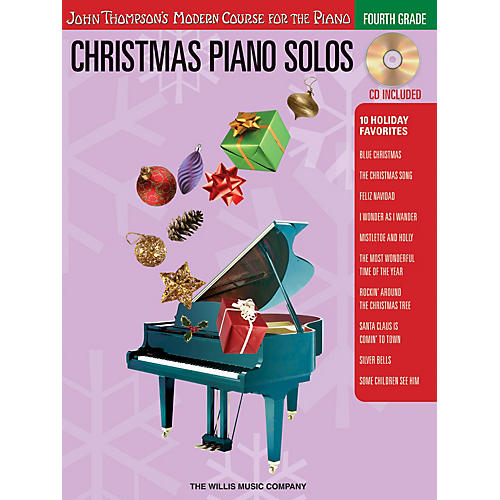 Willis Music Christmas Piano Solos - Fourth Grade (Book/CD Pack) Willis Series Softcover with CD Composed by Various-thumbnail