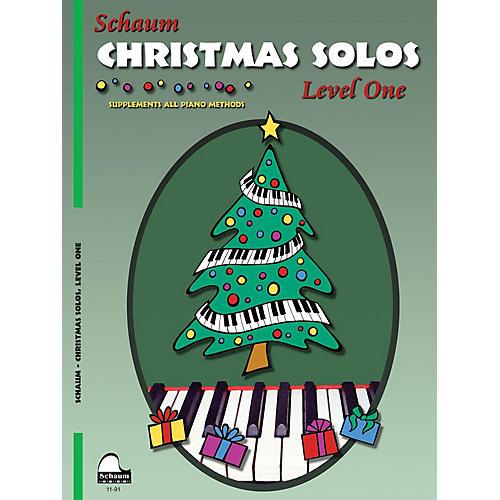 SCHAUM Christmas Solos (Level 1 Elem Level) Educational Piano Book-thumbnail