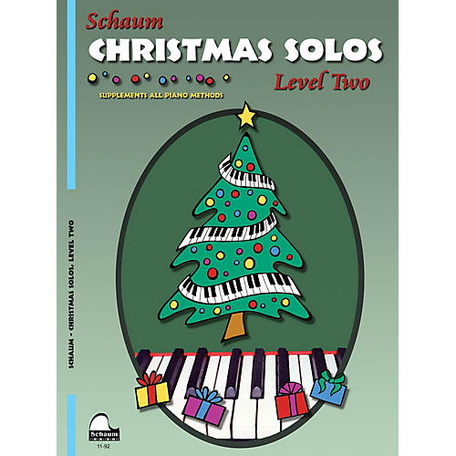 SCHAUM Christmas Solos (Level 2 Upper Elem Level) Educational Piano Book-thumbnail