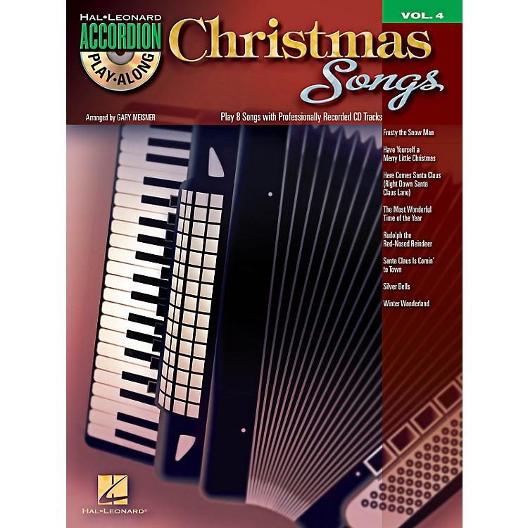 Hal LeonardChristmas Songs - Accordion Play-Along Volume 4 Book/CD