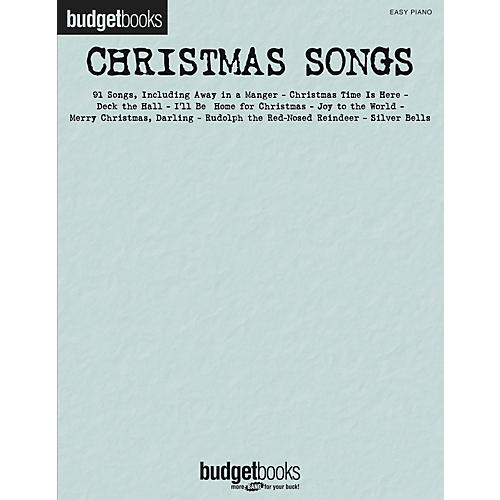 Hal Leonard Christmas Songs - Budget Books Series For Easy Piano
