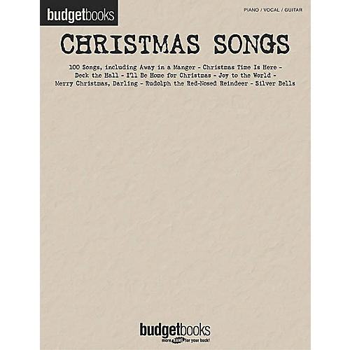 Hal Leonard Christmas Songs Budget Piano, Vocal, Guitar Songbook