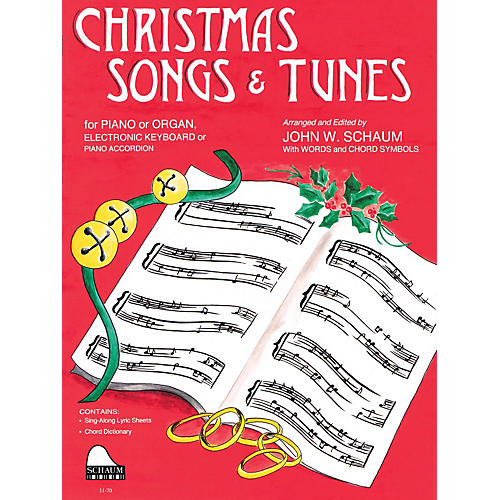 SCHAUM Christmas Songs and Tunes (Level 4 Inter Level) Educational Piano Book-thumbnail
