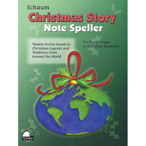 SCHAUM Christmas Story Note Speller Educational Piano Book by Wesley Schaum (Level Elem)-thumbnail