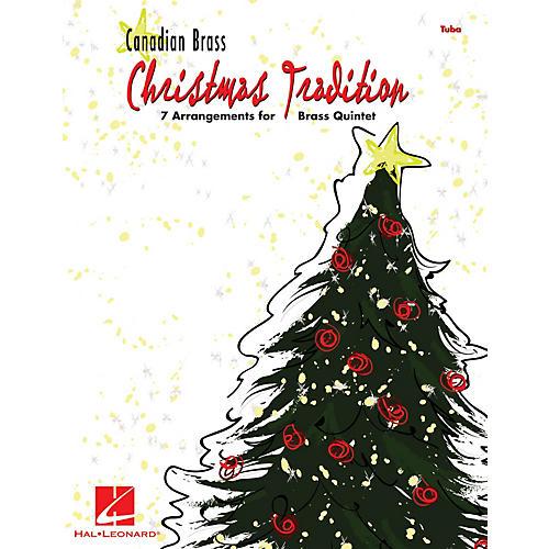 Hal Leonard Christmas Tradition (7 Arrangements for Brass Quintet - Tuba (B.C.)) Brass Ensemble Series by Various-thumbnail