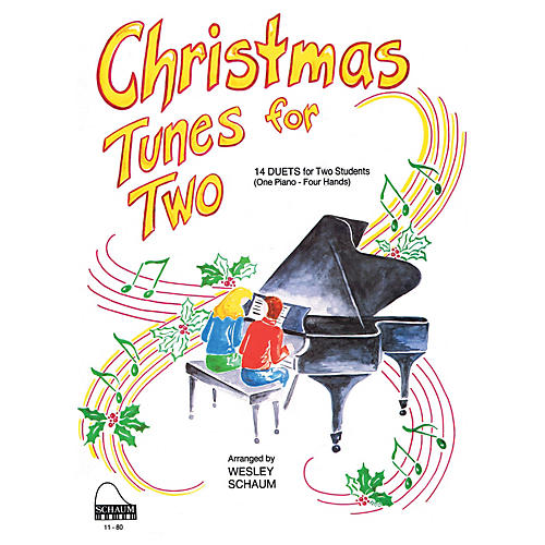 SCHAUM Christmas Tunes for Two (1 Piano, 4 Hands Level 3 Early Inter) Educational Piano Book