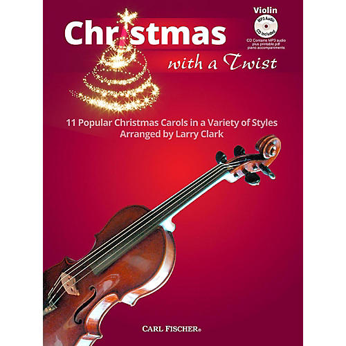 Carl Fischer Christmas With A Twist Book with CD - Violin-thumbnail