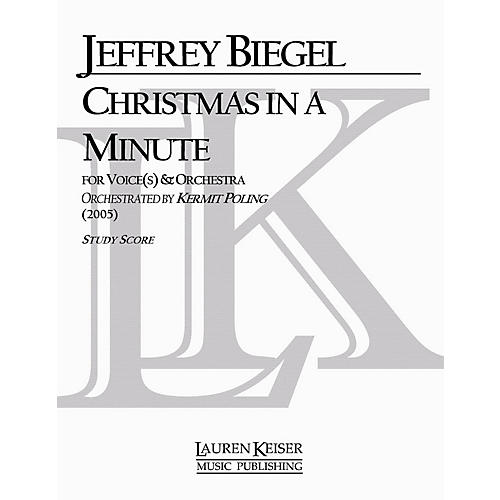 Lauren Keiser Music Publishing Christmas in a Minute (Soloist and Orchestra) LKM Music Series Composed by Jeffrey Biegel-thumbnail