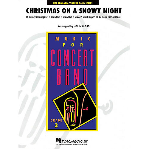 Hal Leonard Christmas on a Snowy Night - Young Concert Band Level 3 by John Moss-thumbnail