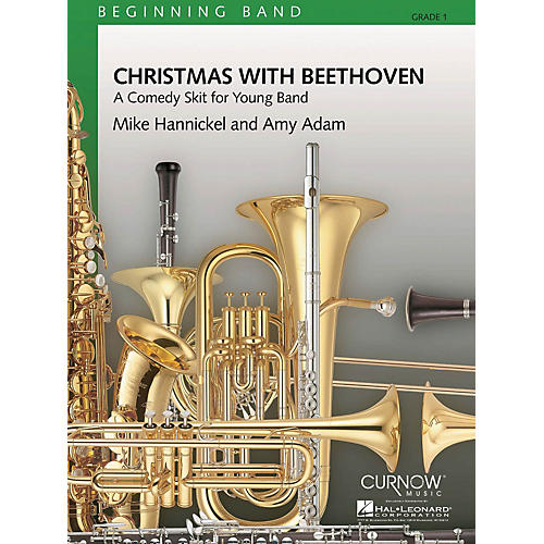 Curnow Music Christmas with Beethoven (Grade 1 - Score and Parts) Concert Band Level 1 Composed by Mike Hannickel-thumbnail