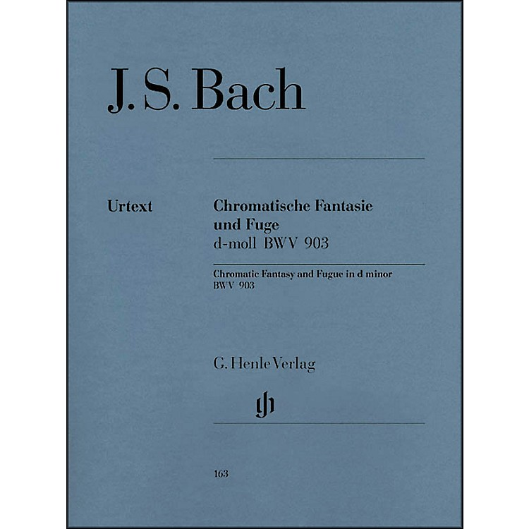 G. Henle VerlagChromatic Fantasy and Fugue D minor BWV 903 and 903a By Bach