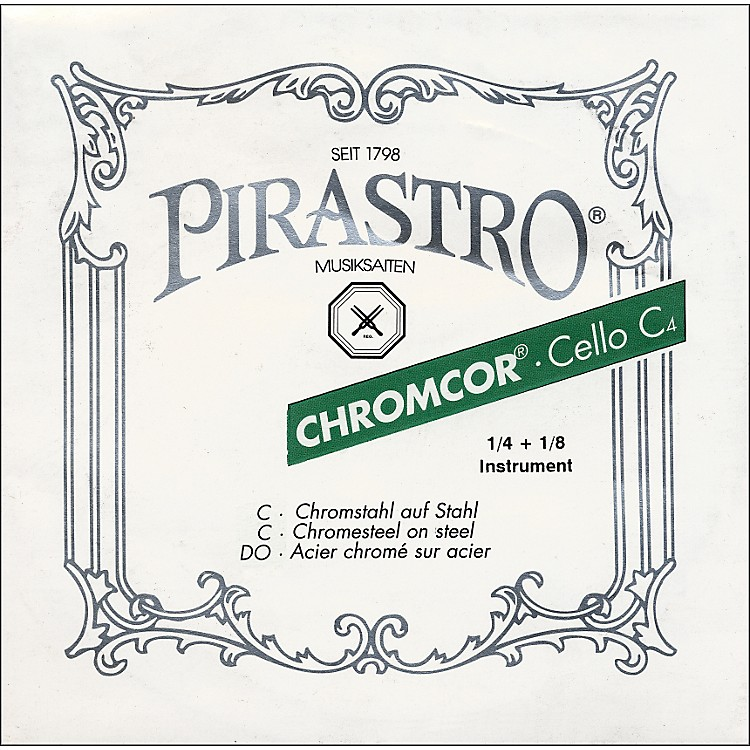 Pirastro Chromcor 1/8-1/4 Size Cello Strings 1/8-1/4 Size C String