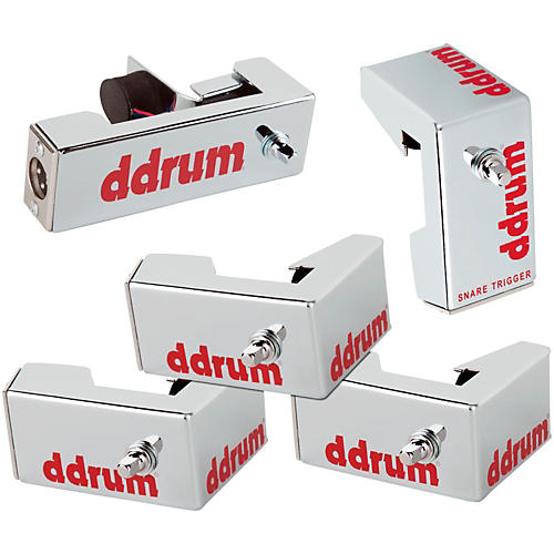ddrum Chrome Elite Advanced Engineered Drum Triggers - 5-Piece Set Chrome