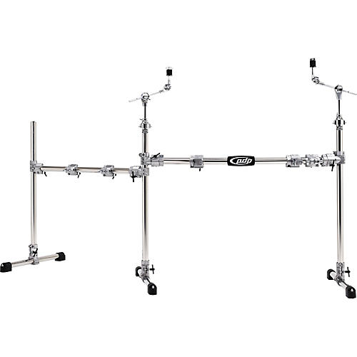 PDP Chrome Plated Main and Side Drum Rack Package
