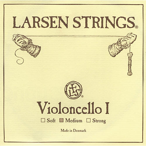 Larsen Strings Chromesteel Series Cello Strings A, Chromesteel, Strong