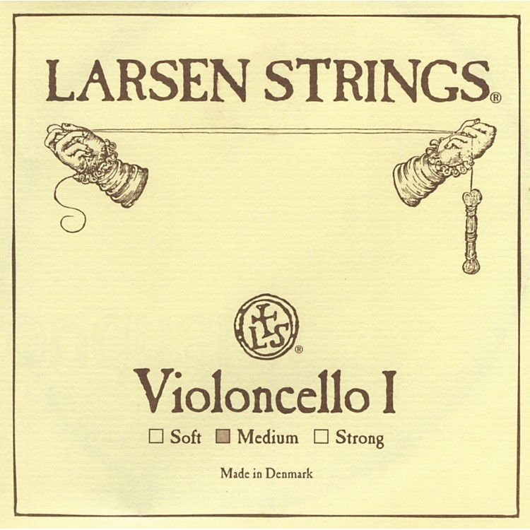 Larsen Strings Chromesteel Series Cello Strings D, Chromesteel, Strong
