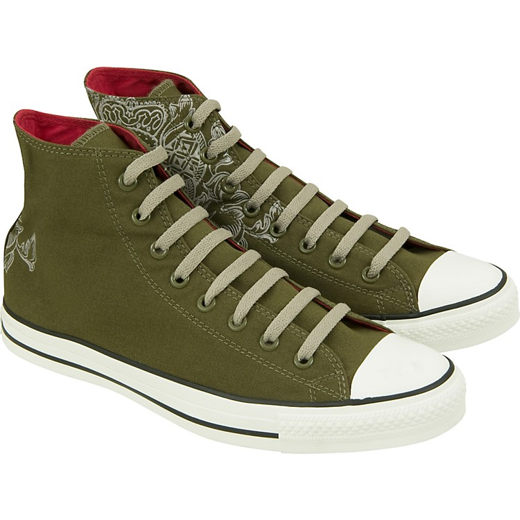 Converse Chuck Taylor All Star Crest Print Hi-Top (Olive) Size 11