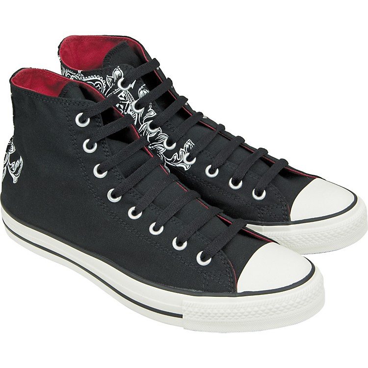 Converse Chuck Taylor All Star Crest Print Hi-Top Sneakers (Black)