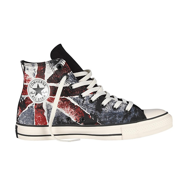 Converse Chuck Taylor All Star High-Top Black/Chili Pepper/Vintage Indigo Flag Mens Size 12