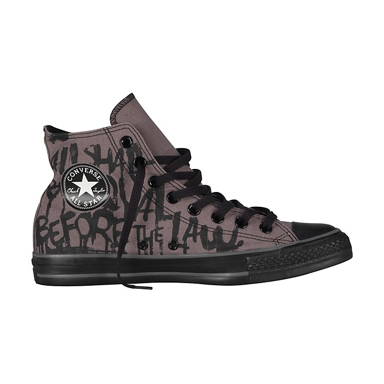 Converse Chuck Taylor All Star High-Top Charcoal Gray/Black Vintage Print Mens Size 7