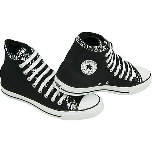 Converse Chuck Taylor All Star High Top Double Upper Live Fast Shoes