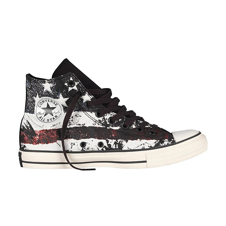 Converse Chuck Taylor All Star High-Top White/Chili Pepper/Vintage Indigo Flag Mens Size 10