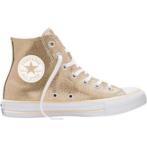Converse Chuck Taylor All Star Stingray Metallic Hi Top Light Gold (Women's)