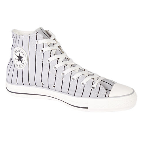 Converse Chuck Taylor All Star Stripe Hi-Top Sneakers (Grey/White)