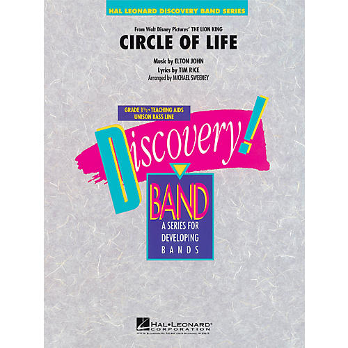 Hal Leonard Circle Of Life (From The Lion King) - Discovery! Band Level 1.5