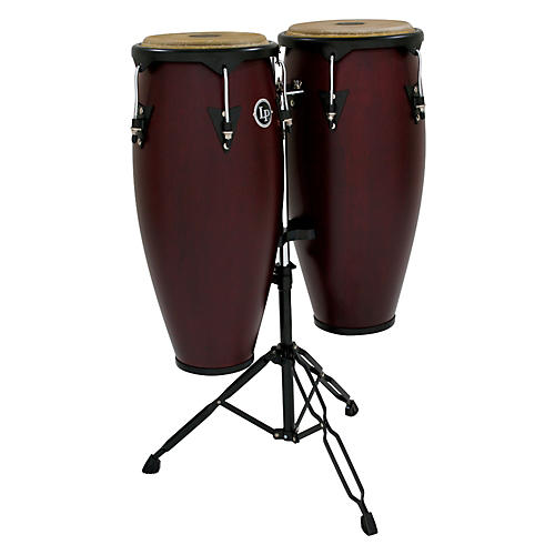 LP City Wood Conga Set w/ Double Stand