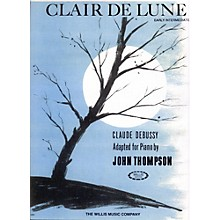 Willis Music Clair De Lune Early Intermediate for Piano by John Thompson